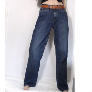 Retro Lee straight leg high waisted baggy jeans